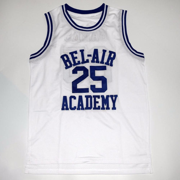 Carlton Banks Bel Air Academy Basketball Jersey White #25 - Jersey Champs