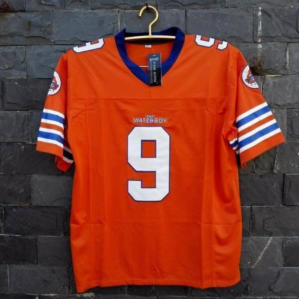 Adam Sandler Bobby Boucher The Waterboy Mud Dogs Football Jersey Orange - Jersey Champs