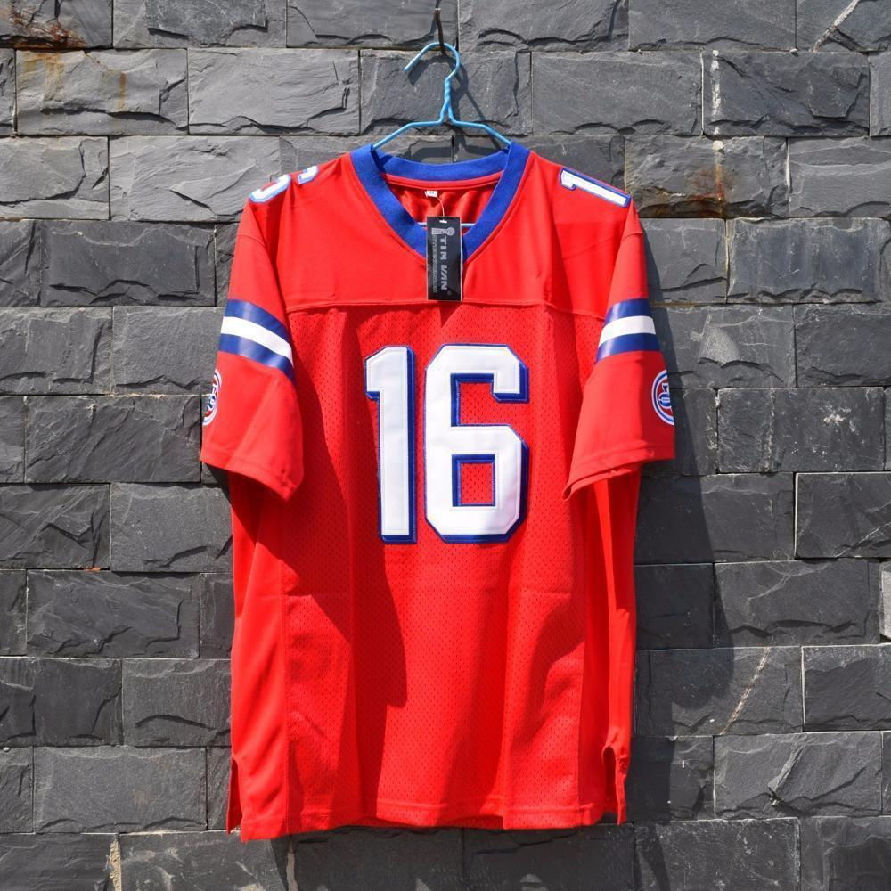 Keanu Reeves Shane Falco Football Jersey Stitched Red