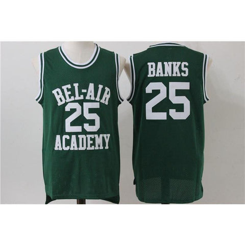 Carlton Banks Bel Air Academy Basketball Jersey Green/Black