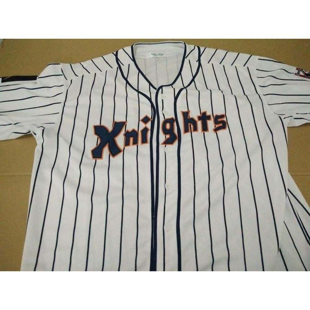 7b17e7944d42 Roy Hobbs The Natural New York Knights Fully Stitched Baseball Jersey - Jersey  Champs - Custom