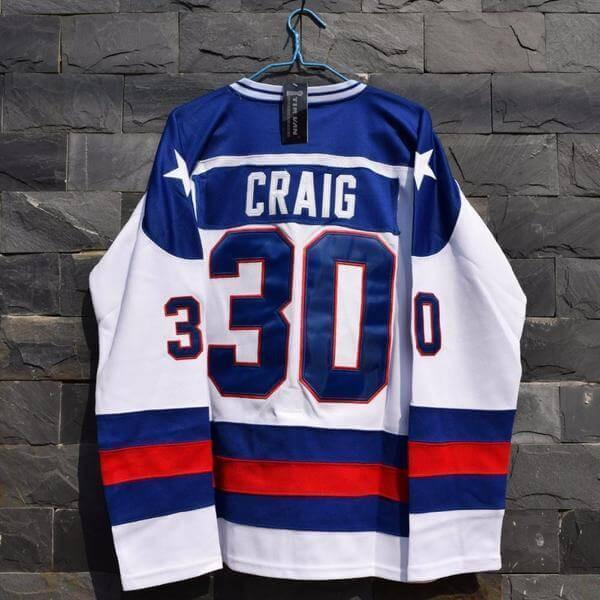 1980 Miracle On Ice Team USA Jim Craig Hockey Jersey - Jersey Champs