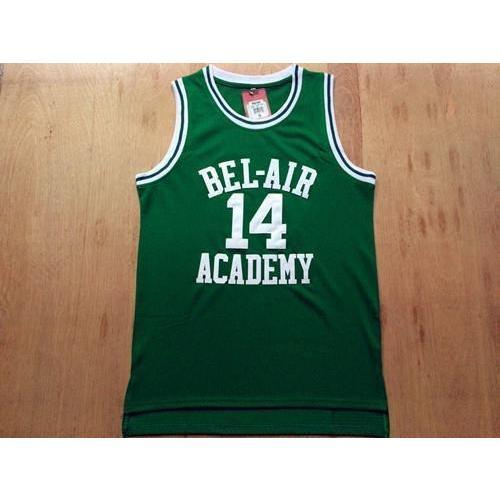 Will Smith Bel Air Academy Basketball Jersey Stitched Yellow Green