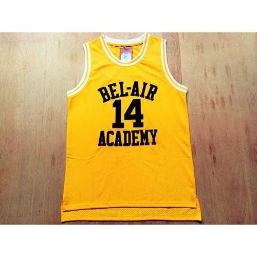 Will Smith Bel Air Academy Basketball Jersey Stitched Yellow