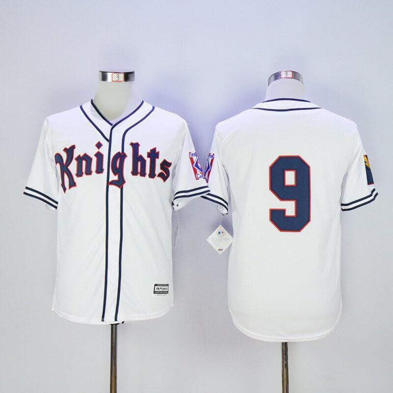 New York Knights Baseball Jersey #9 Roy Hobbs