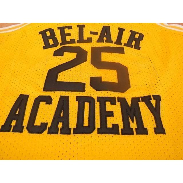 Fresh Prince of Bel Air Basketball Jersey Ernie Banks 25 Stitched Yellow