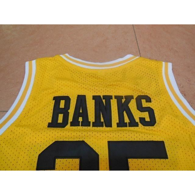 Fresh Prince of Bel Air Basketball Jersey Ernie Banks 25 Stitched