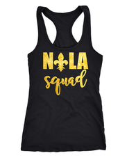New Orleans bachelorette shirts, NOLA bridesmaid tank tops