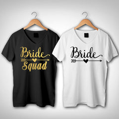 Bride Squad Shirts, bridal party shirts, Bride squad V neck TShirt