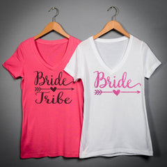Bachelorette shirts, Bride Tribe Shirts V-Neck  Shirts All Colors ,