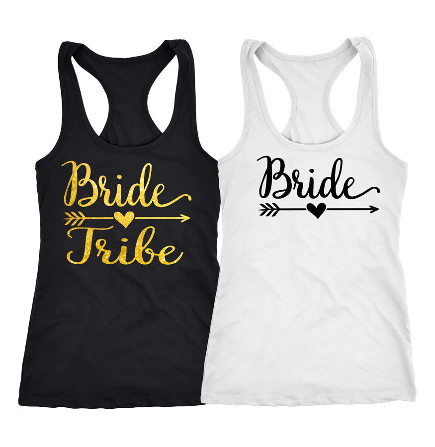 Bride tribe shirts bridal party shirts under 10 for Novelty bride wedding dress t shirt