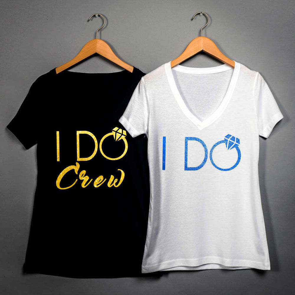 I Do Crew T-shirt, Bachelorette T-shirt, Fast Shipping, Bridal Party T-shirt 108