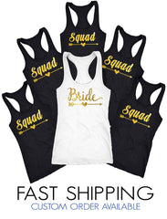 Bride squad Tank Top D103