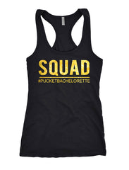 Bride squad shirts, bridal party shirts, bachelorette party tanks 162