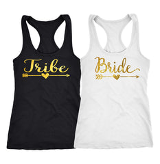 Bride Tribe tank top,  Bachelorette party shirts , bridesmaid shirts  106