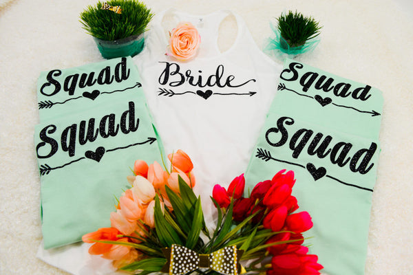 Bride squad shirts, Bachelorette party tank tops, bride shirt,103