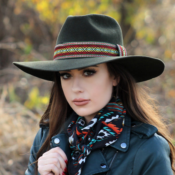 Olive Calamity Collection Felt Hat