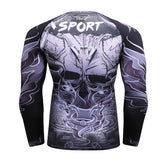 Horned Skull Rash Guard