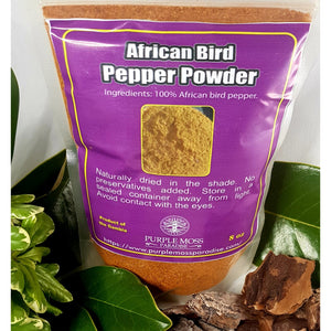 African Bird Pepper Powder 8 OZ