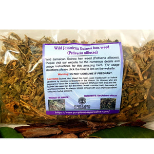 Wild Jamaican Guinea hen weed (Botanical Name-Petiveria alliacea) 4OZ