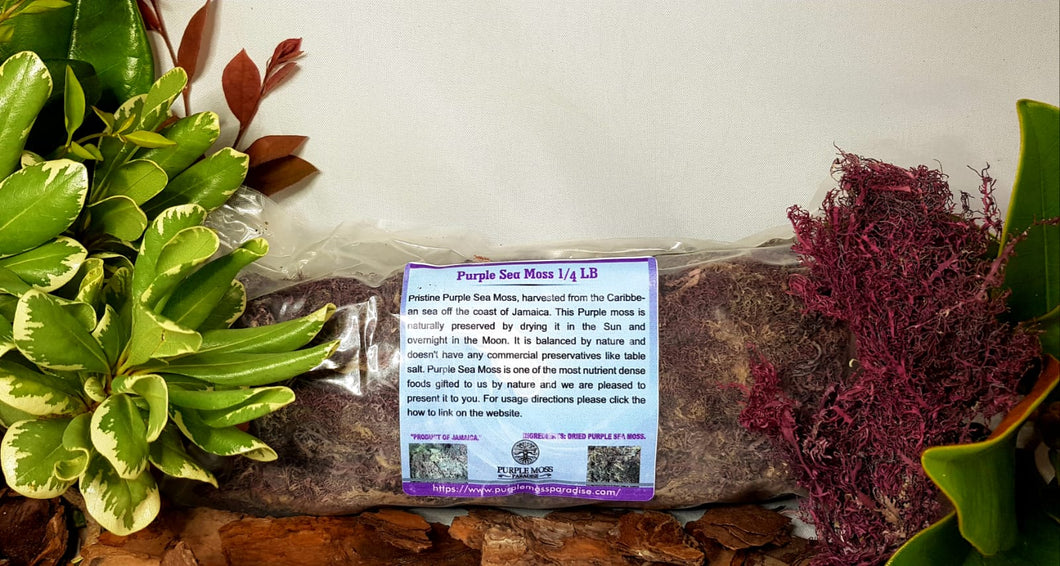 Purple Sea Moss 1/4 Pound