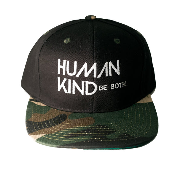 Human Kind Be Both Snapback Camo - Digital Native Designs