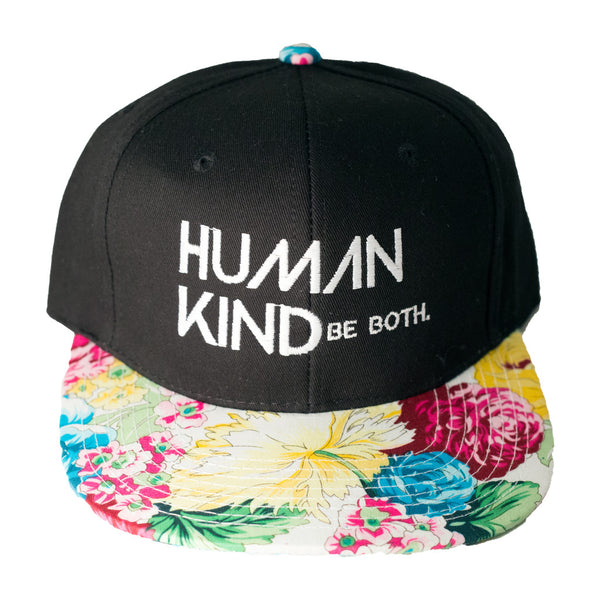 Human Kind Be Both Snapback Floral Pop - Digital Native Designs