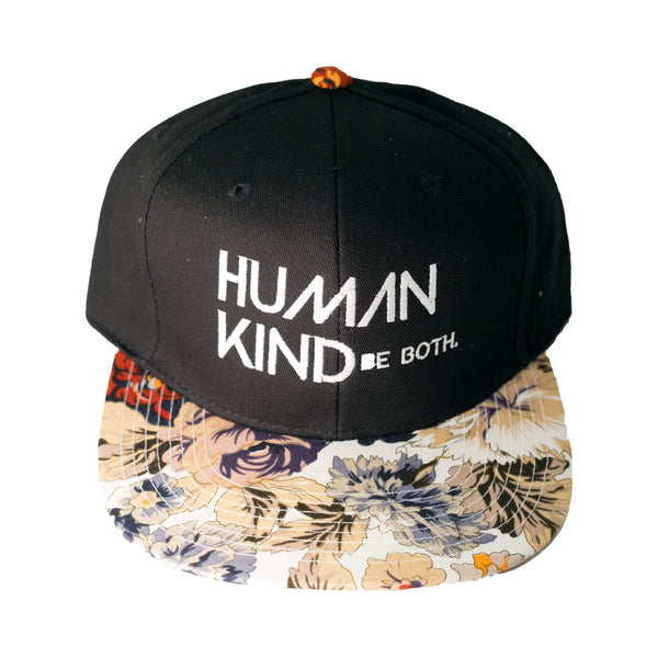 Human Kind Be Both Snapback Floral Tan - Digital Native Designs