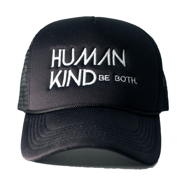 Human Kind Be Both Trucker Hat Black - Digital Native Designs