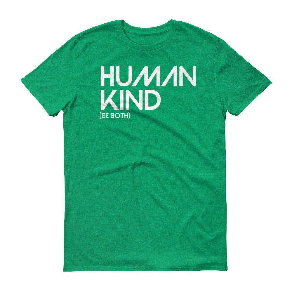 Human Kind Be Both - Men's Short sleeve Shirt - Digital Native Designs