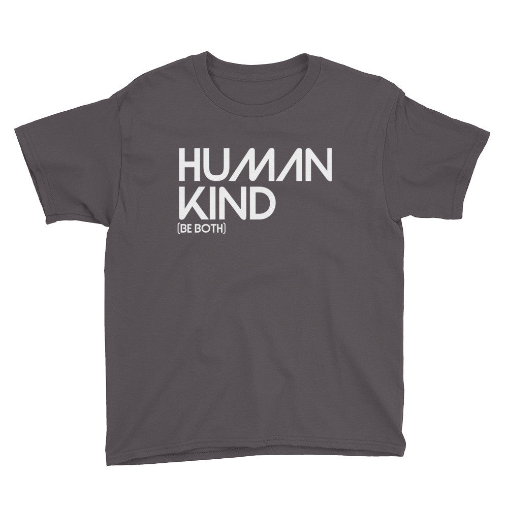 Human Kind Be Both Youth Short Sleeve T-Shirt - Digital Native Designs