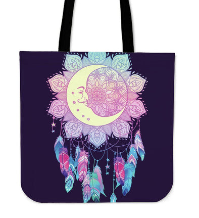 Lotus Moon Dreamcatcher Tote Bag
