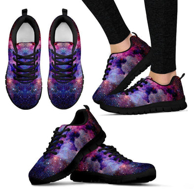 Clearance Purple Galaxy Handcrafted Sneakers