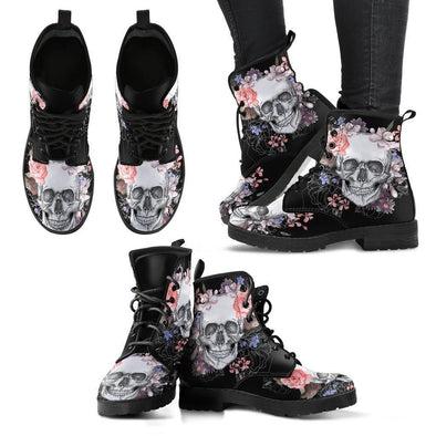 Clearance Colorful Skull Flowers ii Boots