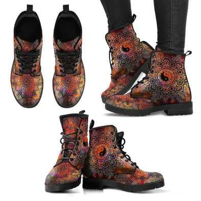 Clearance Colorful Yin and Yang Boots