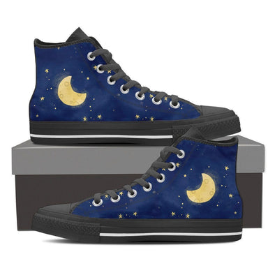 Mens Moon and Stars High Top.