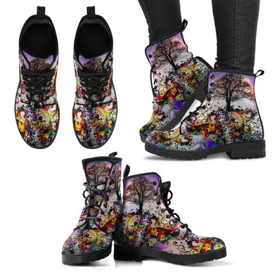 HandCrafted Fractal Art Tree of Life Boots