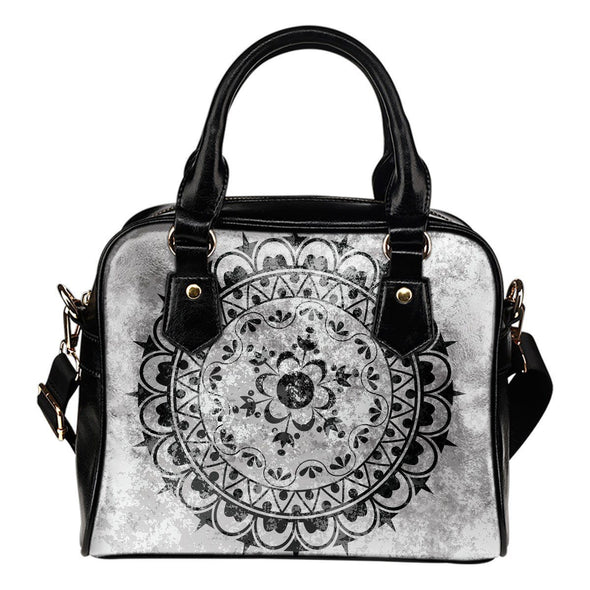 Black Jewel Shoulder Handbag