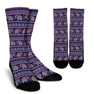 Colorful Elephant Mandala Socks