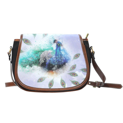 Peacock Saddle Bag