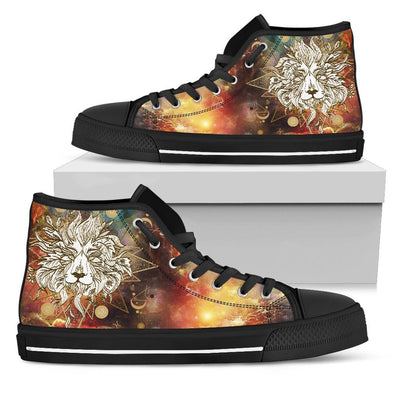 Womens Gold Lion Mandala High Top