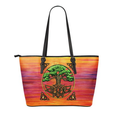 The Tree of Life Small Leather Tote