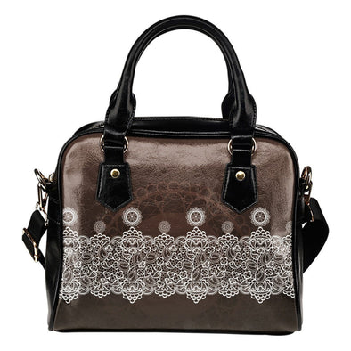 Lace Design Shoulder Handbag