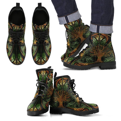 Men's Fractal Tree of Life Mandala Boots.