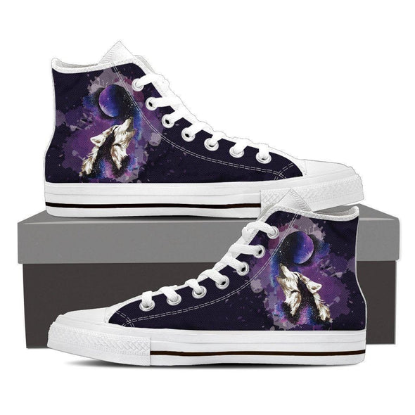 Mens Wolf and Moon High Top.