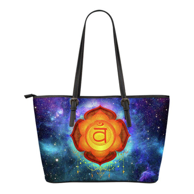 Sacral Chakra Small Leather Tote