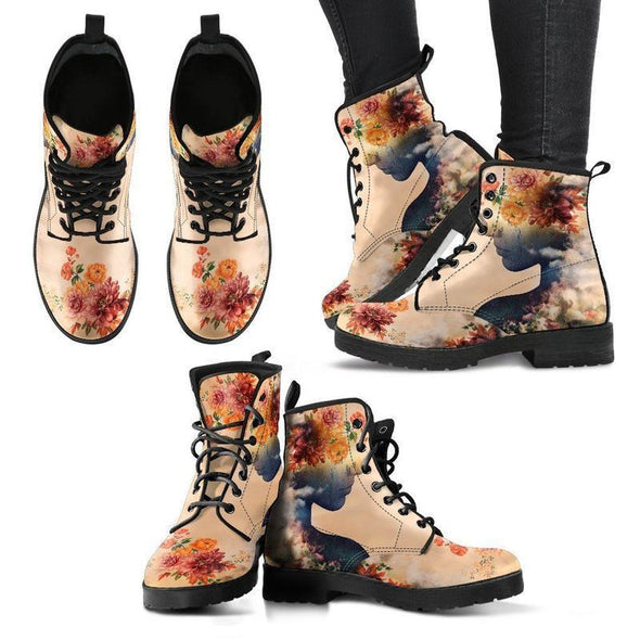Clearance Woman Flowers Boots