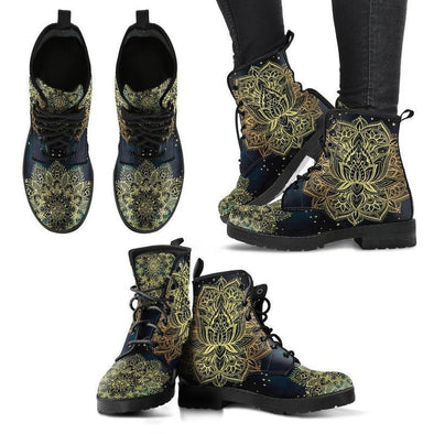 Clearance Golden Lotus Flower Boots
