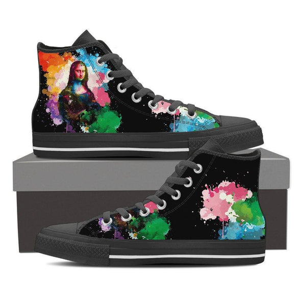 Mona Lisa High Top Canvas v1 (Black)