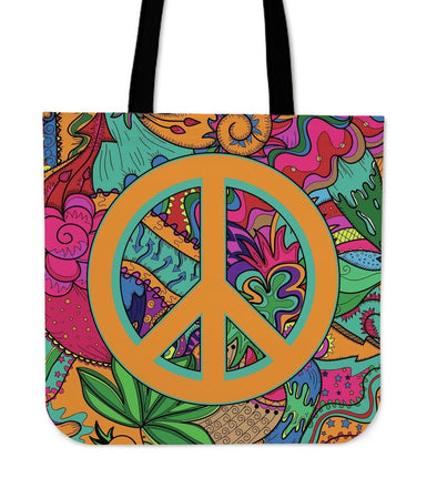 Hippie Peace Tote Bag
